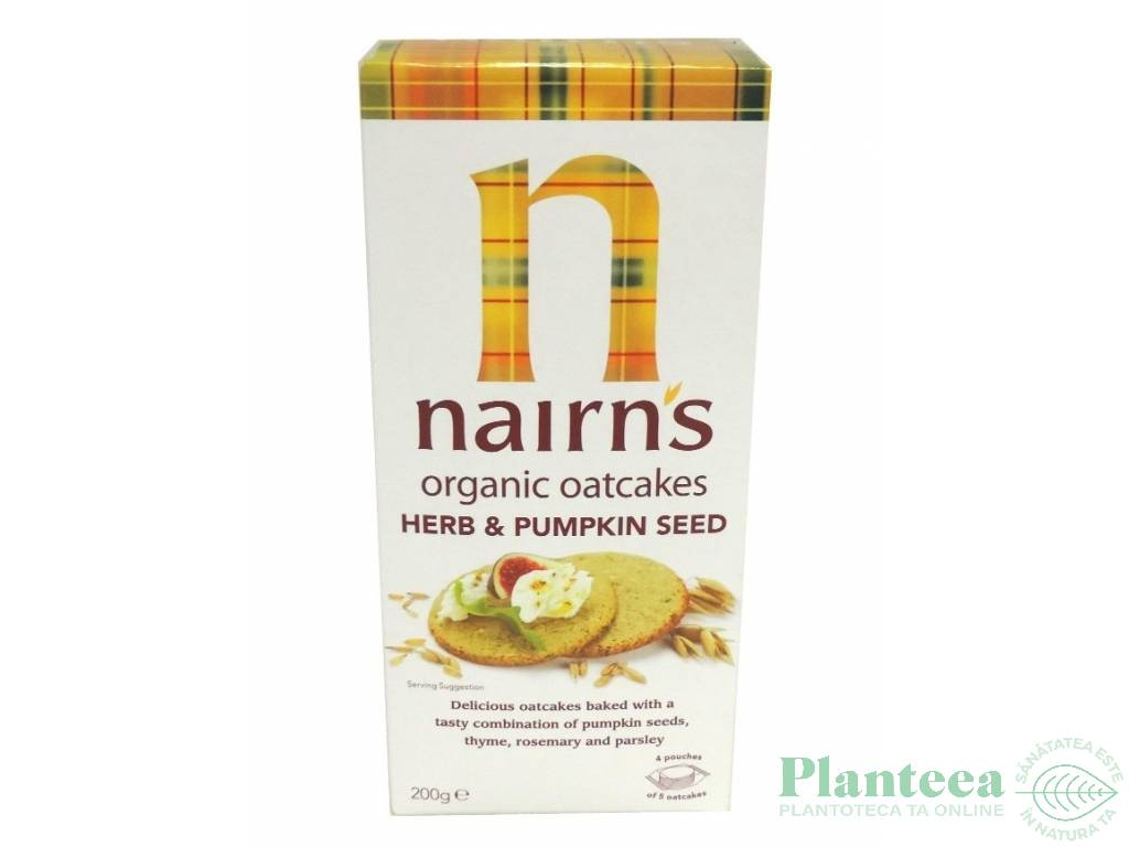 Turtite ovaz ierburi seminte dovleac organic 200g - NAIRN`S