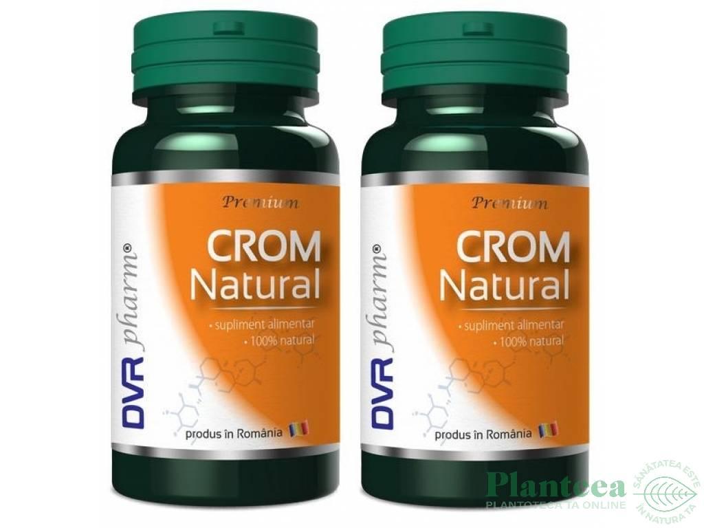 Pachet Crom natural 60+30cps - DVR PHARM