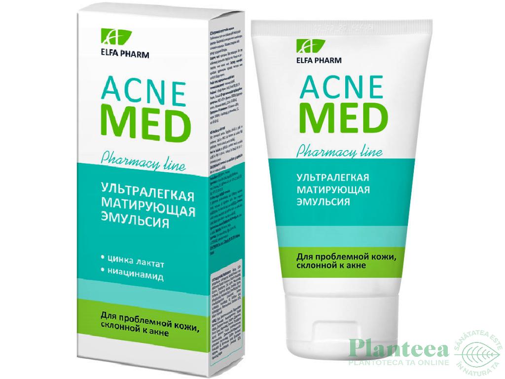 Emulsie matifianta probleme ten tendinta acneica AcneMed 40ml - ELFA PHARM