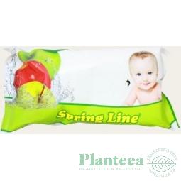 Servetele umede copii 60b - SPRING LINE