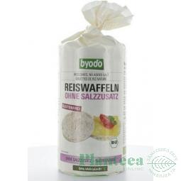 Rondele expandate orez fara sare 100g - BYODO
