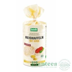 Rondele expandate orez mei cu sare 100g - BYODO