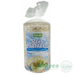Rondele expandate orez 7cereale cu sare 100g - BYODO