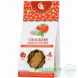Crackers vegani rosii usturoi 125g - HIPER AMBROZIA
