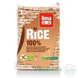 Rondele expandate orez cu sare 130g - LIMA
