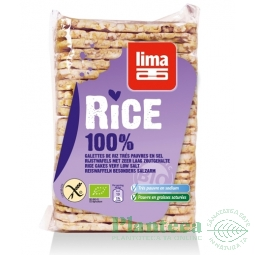 Rondele expandate orez fara sare 130g - LIMA