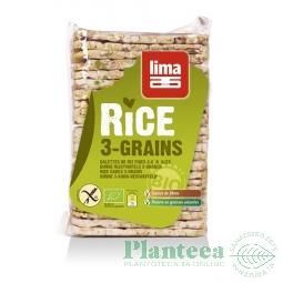 Rondele expandate orez 3 cereale 130g - LIMA