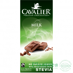 Ciocolata lapte belgiana stevia 85g - CAVALIER