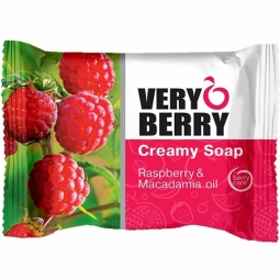 Sapun cremos zmeura ulei macadamia Very Berry 100g - ELFA PHARM