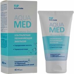 Emulsie ten normal mixt hidratanta acid hialuronic apa termala AquaMed 40ml - ELFA PHARM