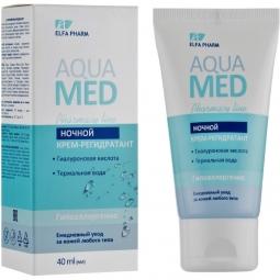 Crema noapte intens rehidratanta acid hialuronic apa termala AquaMed 40ml - ELFA PHARM