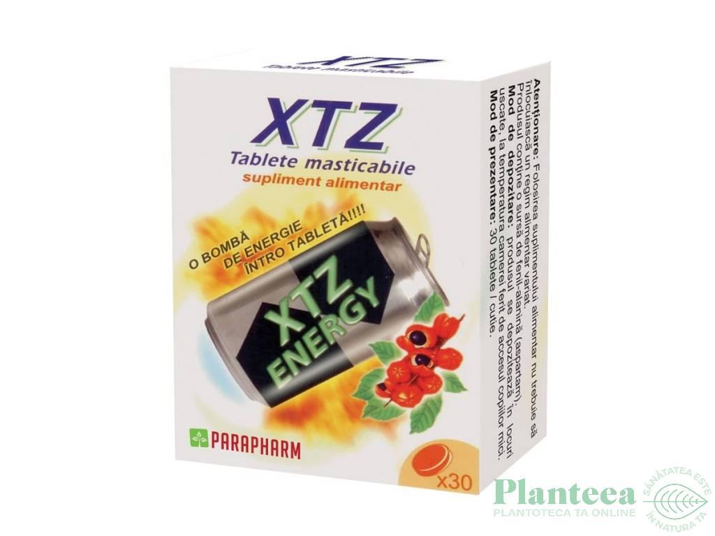 Pachet XTZ energy tablete masticabile {1+1} 30cp - PARAPHARM