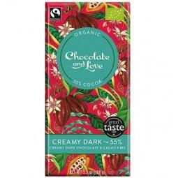 Ciocolata neagra 55% cremoasa cacao nibs 100g - CHOCOLATE & LOVE