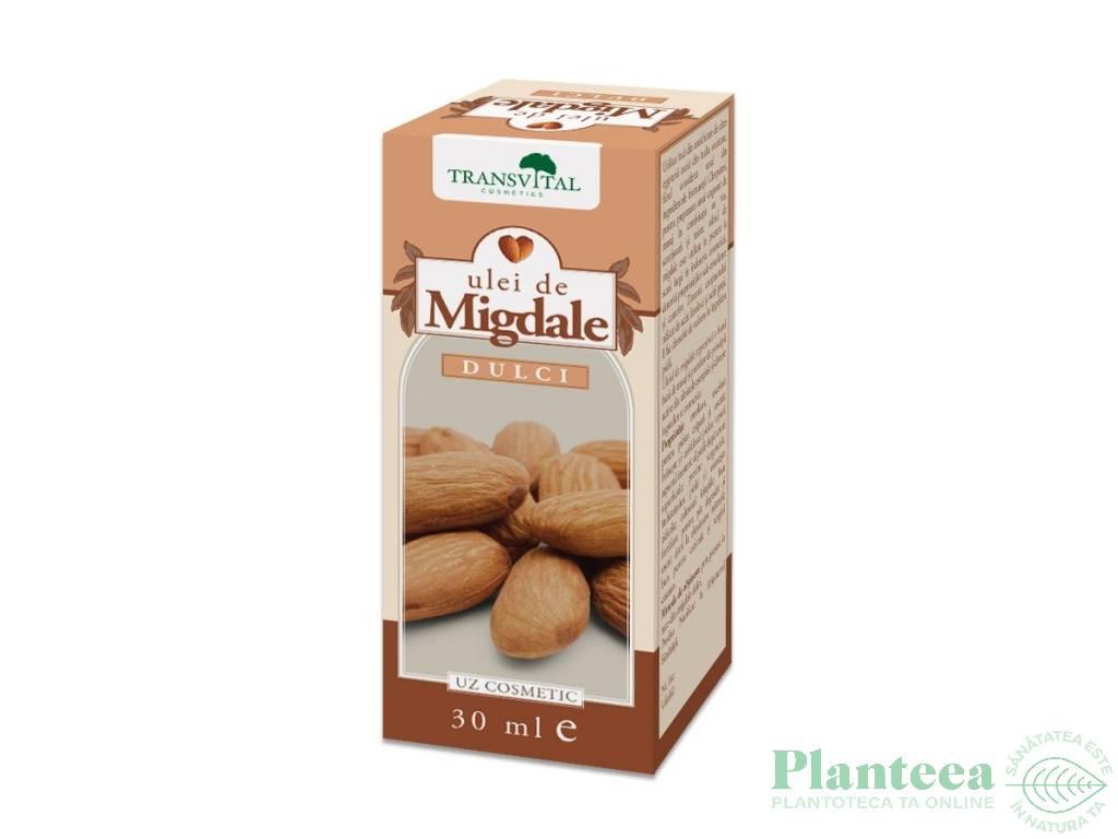 Ulei migdale dulci cosmetic 30ml - TRANSVITAL