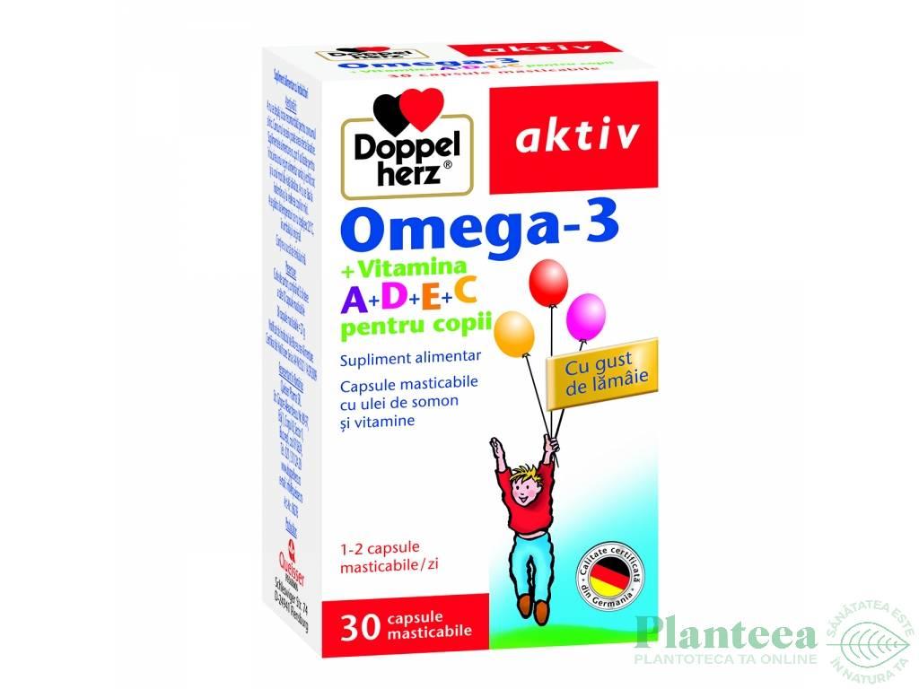 Omega3 A D E C copii 30cps - DOPPEL HERZ
