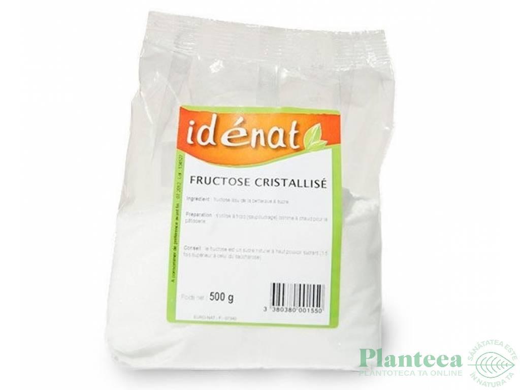 Fructoza cristalizata bio 500g - IDENAT