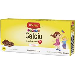 Calciu D3 cacao junior 20cp - BIOLAND