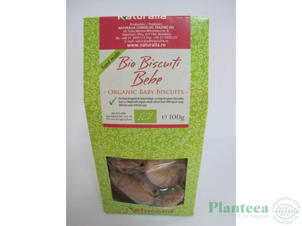 Biscuiti ecologici bebe 100g - NATURALIA