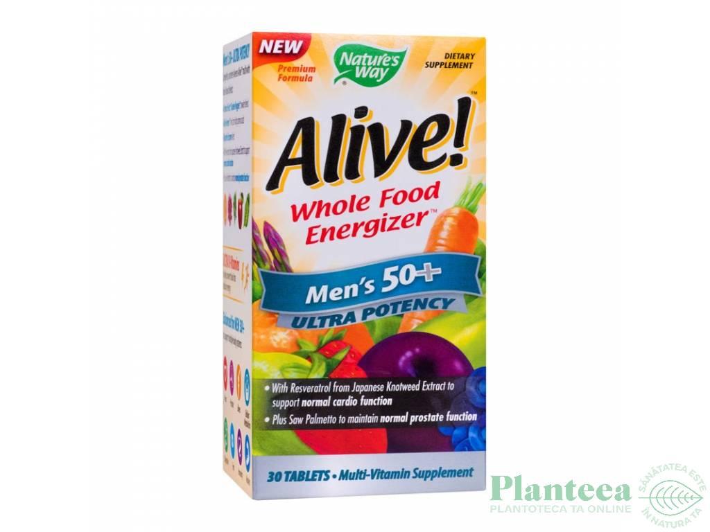 Alive multivitamine men`s 50+ ultra 30cp - NATURES WAY