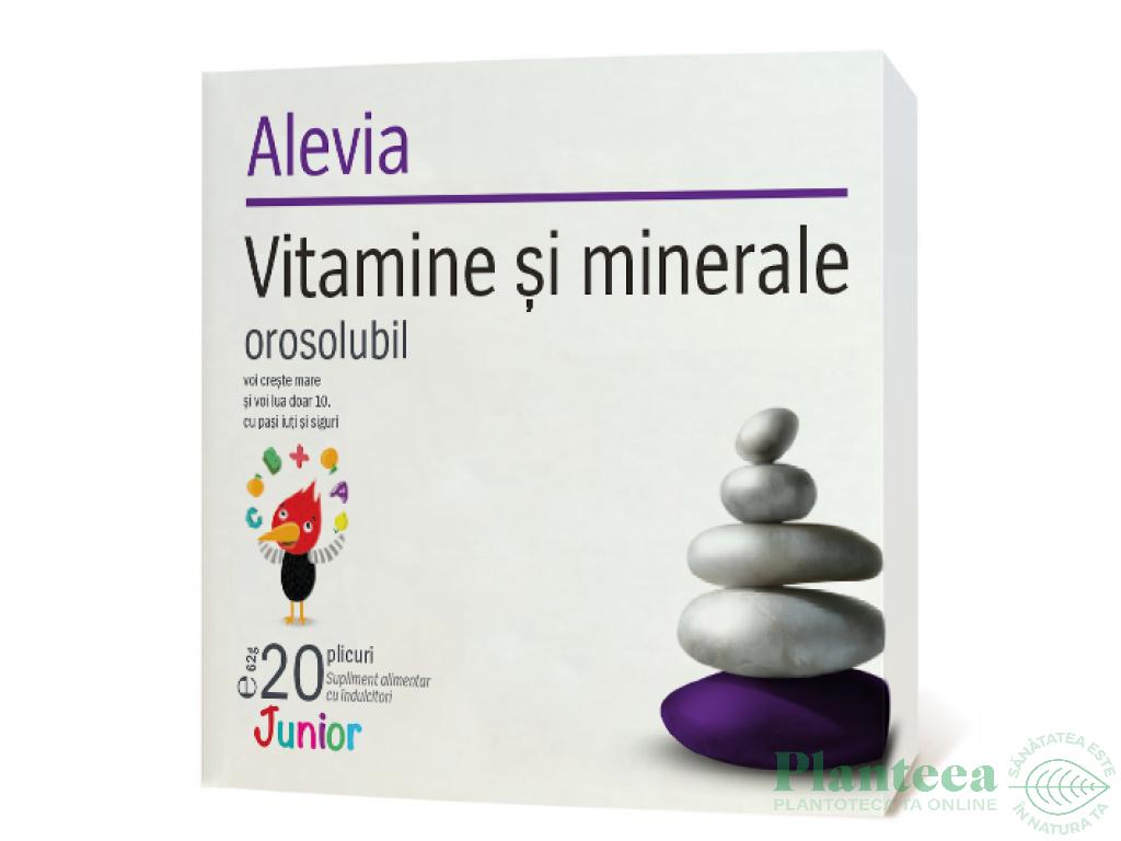 Vitamine minerale junior orosolubile 20pl - ALEVIA