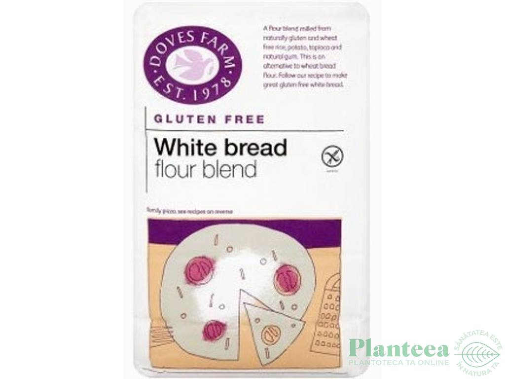 Premix paine alba fara gluten 1kg - DOVES FARM