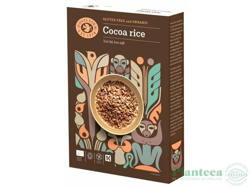 Fulgi orez cacao fara gluten 375g - DOVES FARM