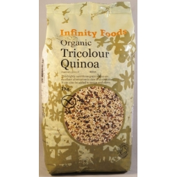 Quinoa tricolora boabe 1kg - INFINITY FOODS