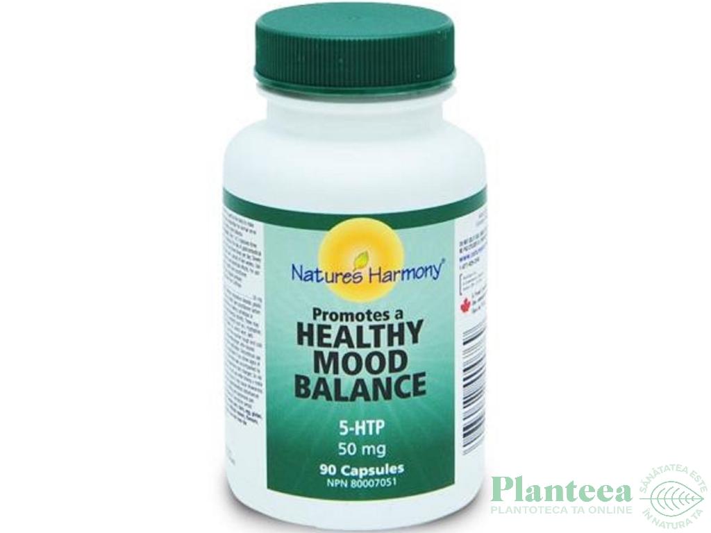 5 HTP 50mg antidepresiv antistres 90cps - NATURES HARMONY