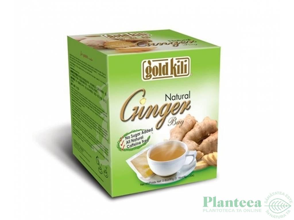 Ceai ghimbir natural 20dz - GOLD KILI