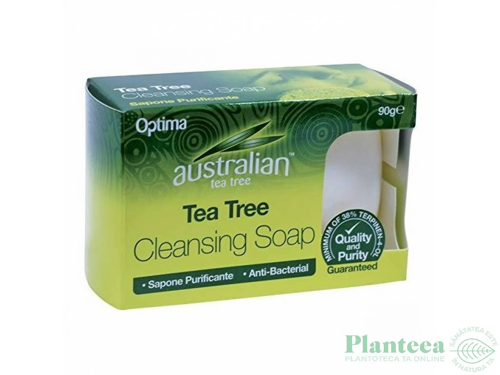 Sapun curatare antibacterian arbore ceai 90g - OPTIMA HEALTH