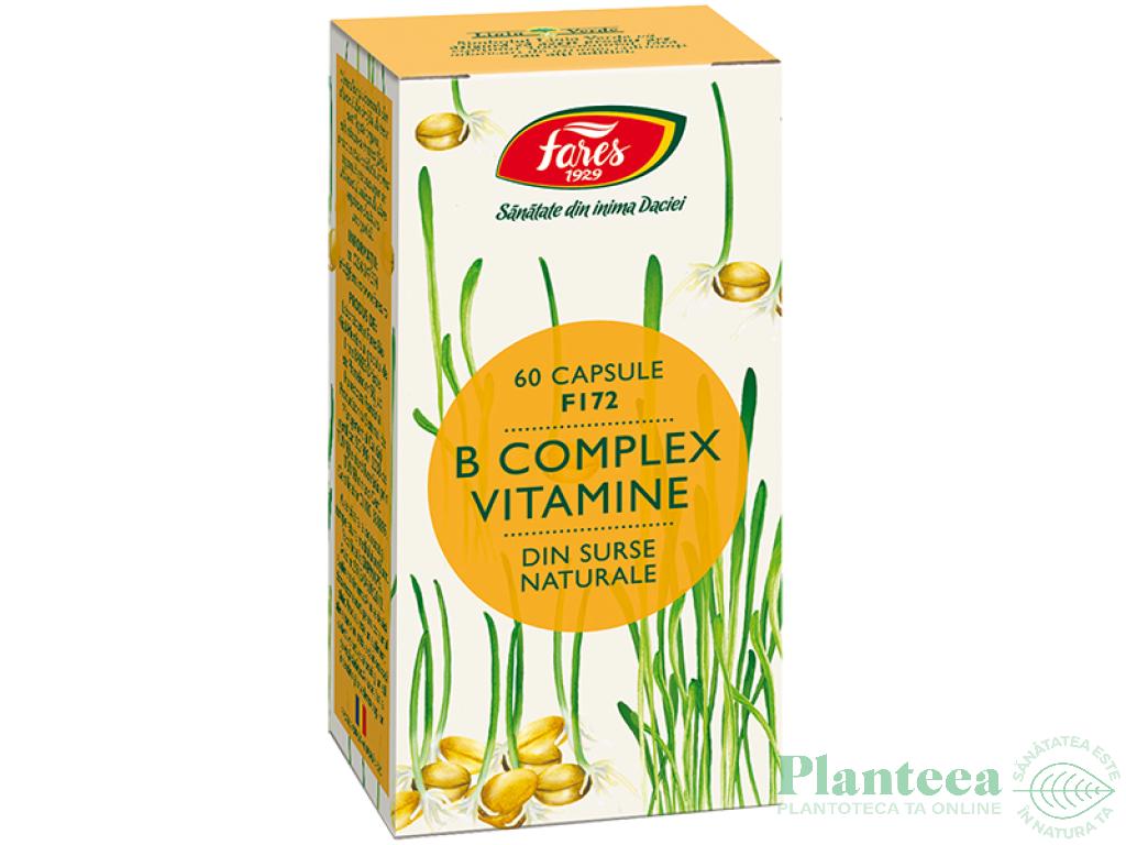 B complex vitamine naturale 60cps - FARES