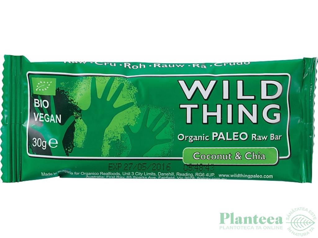 Baton paleo raw cocos seminte chia 30g - WILD THING