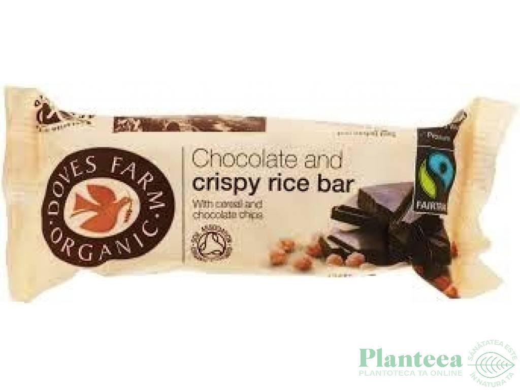 Baton orez ciocolata 35g - DOVES FARM