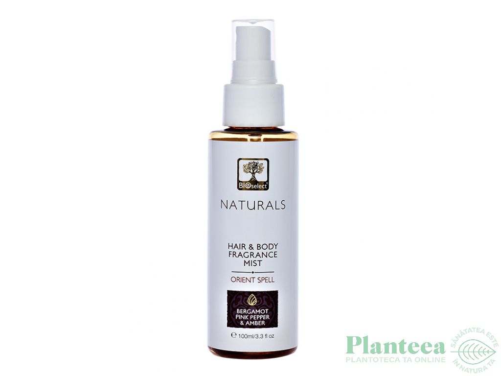 Parfum hidratant par corp orient spell bergamota ambra 100ml - BIOSELECT NATURALS