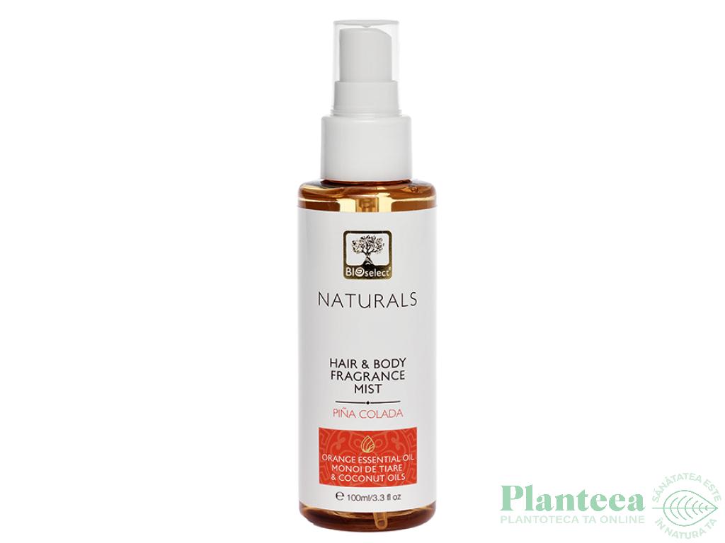 Parfum hidratant par corp pina colada portocala monoi tahiti 100ml - BIOSELECT NATURALS