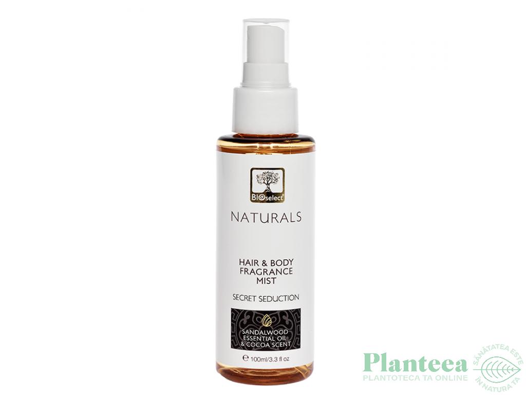 Parfum hidratant par corp seduction santalwood cocoa scent 100ml - BIOSELECT NATURALS