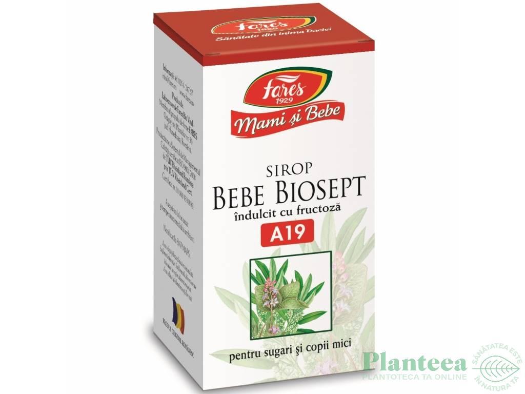 Sirop biosept indulcit fructoza Mami&Bebe 100ml - FARES