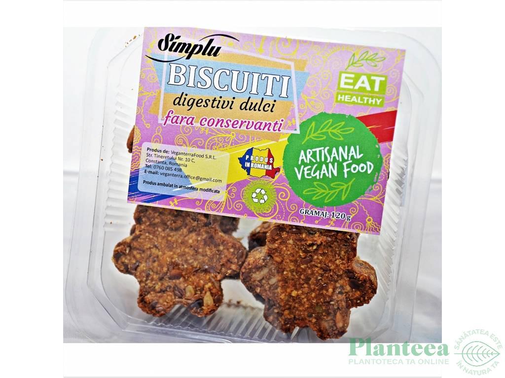 Biscuiti digestivi dulci 120g - SIMPLU