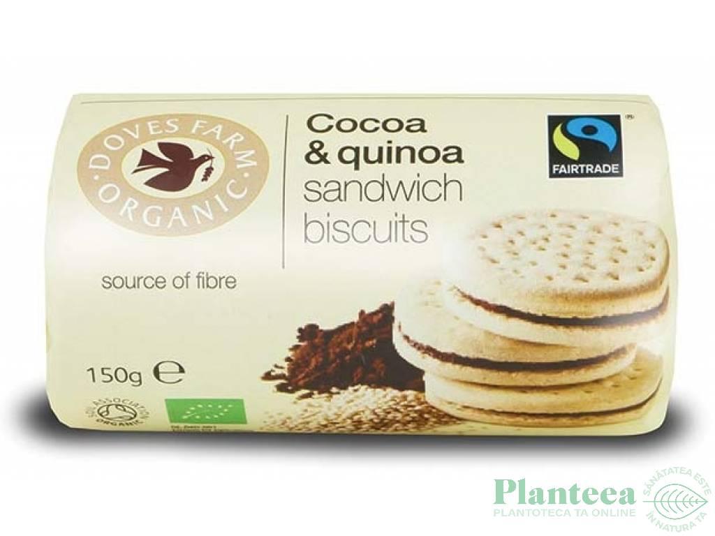 Biscuiti sandvici crema cacao quinoa 150g - DOVES FARM