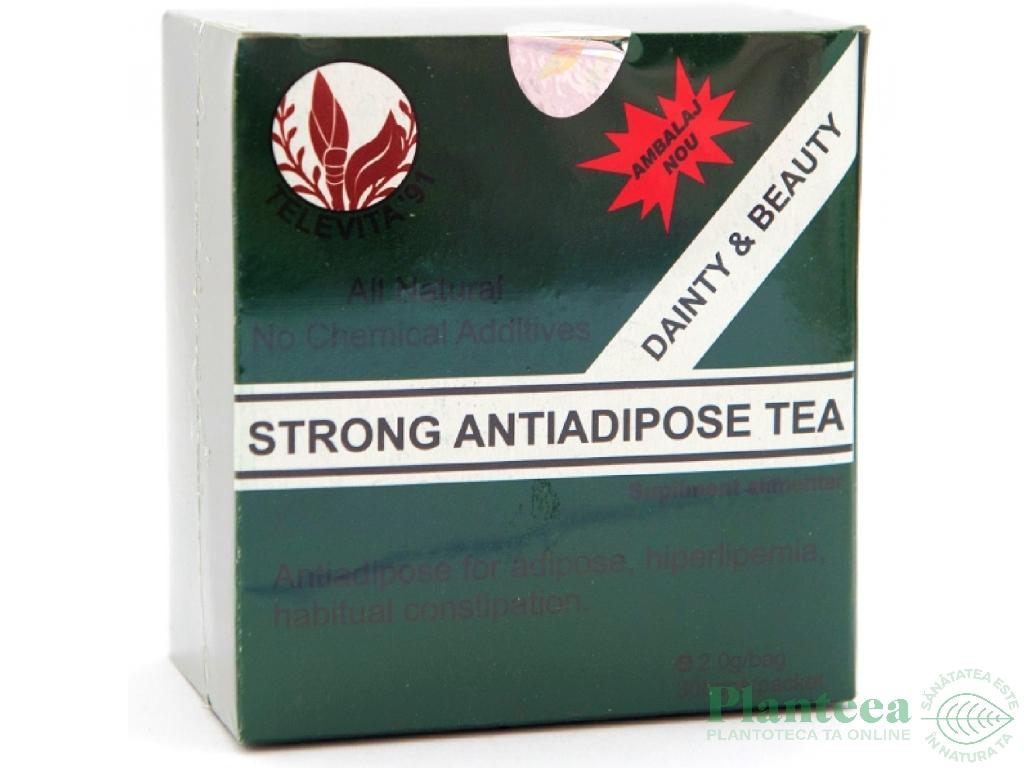 Ceai antiadipos strong 30dz - TELEVITA