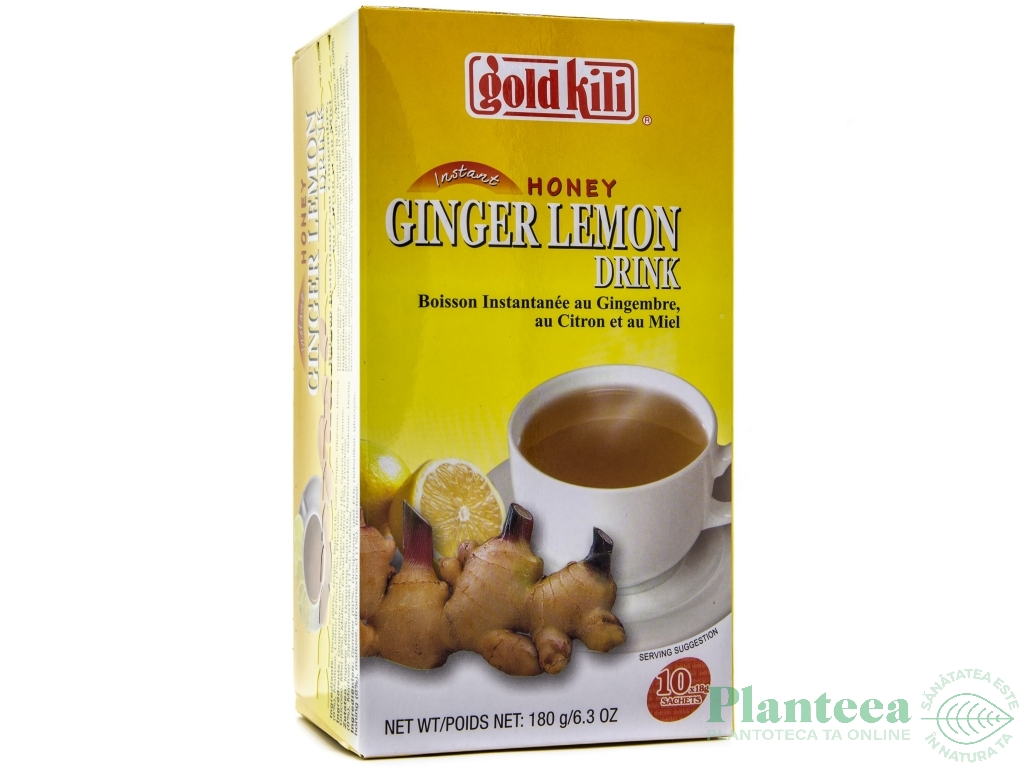 Ceai instant ghimbir lamaie miere 20dz - GOLD KILI