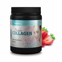Pulbere colagen gust capsune stevia 330g - VITAKING