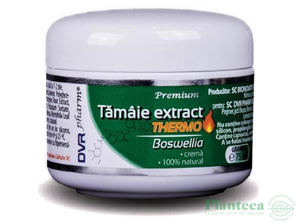 Crema tamaie extract [boswellia] thermo 75ml - DVR PHARM