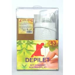 Kit Aparat+Super Depilet+Hartie+azulena+Ulei set - GLOBUS