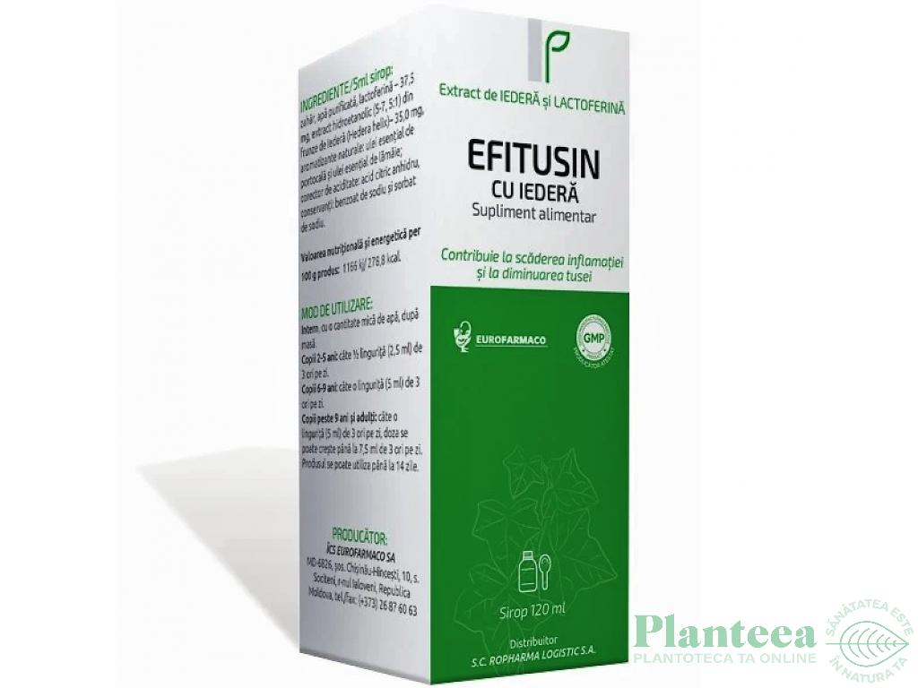 Sirop Efitusin iedera 120ml - EUROFARMACO