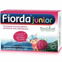 Pastile gat Fiorda junior zmeura 15cp - PLANTEXTRAKT