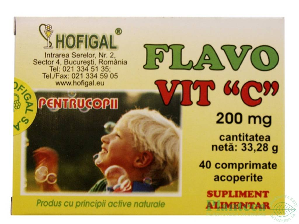 Flavovit C 200mg 40cp - HOFIGAL