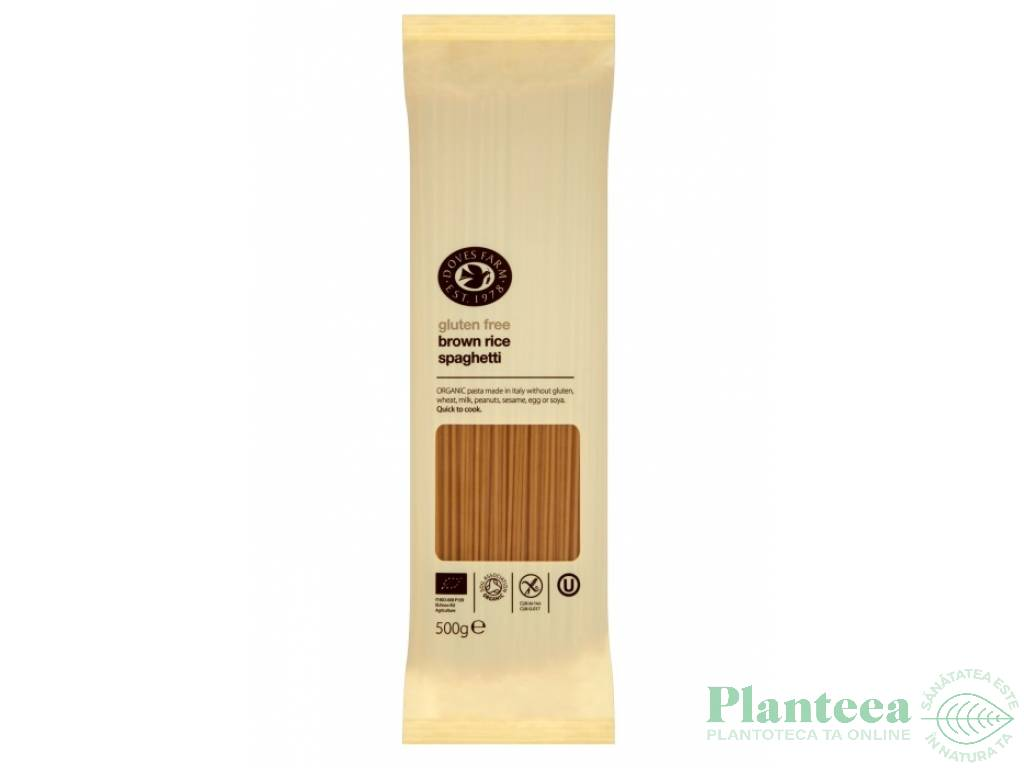 Paste spaghete orez brun 500g - DOVES FARM