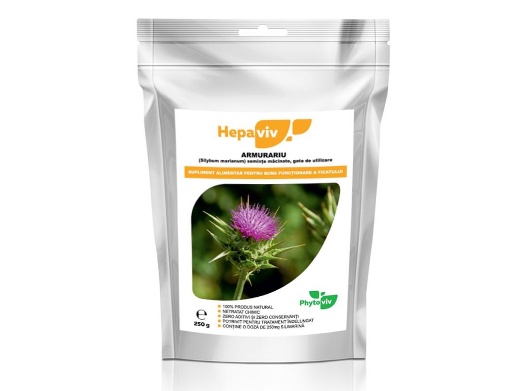 Pulbere silimarina [milk thistle] Hepaviv 250g - PHYTOVIV