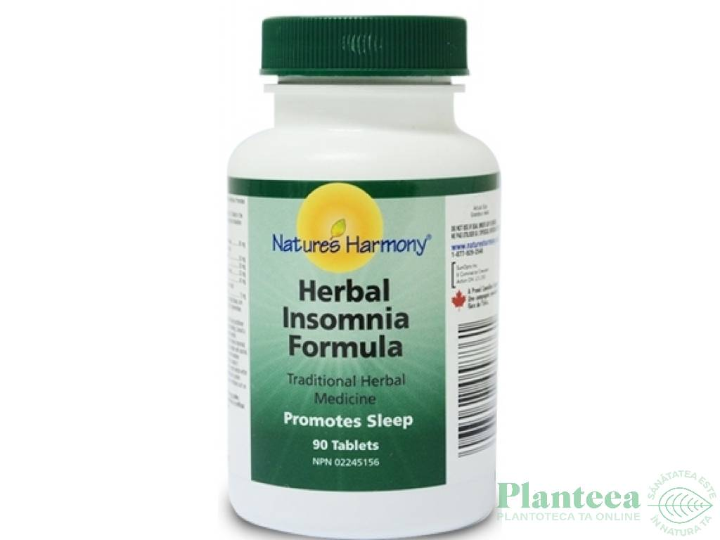 Herbal Insomnia 90cp - NATURES HARMONY